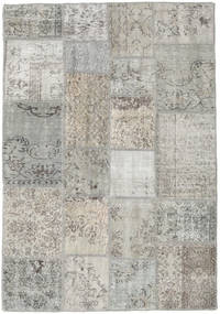 Patchwork Rug 141X203 Authentic  Modern Handknotted Light Grey (Wool, Turkey)