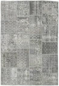 Patchwork Teppich  139X204 Echter Moderner Handgeknüpfter Hellgrau/Dunkelgrau (Wolle, Türkei)