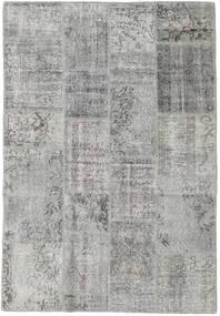 Лоскутные Ковер 138X202 Современный Ковры Ручной Работы Светло-Серый/Темно-Серый (Шерсть, Турция)