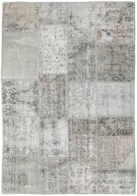 Patchwork Tapis 139X200 Moderne Fait Main Gris Clair (Laine, Turquie)