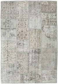 Patchwork Rug 137X200 Authentic  Modern Handknotted Light Grey/Dark Beige (Wool, Turkey)