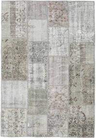 Patchwork Tapis 138X201 Moderne Fait Main Gris Clair/Gris Foncé (Laine, Turquie)