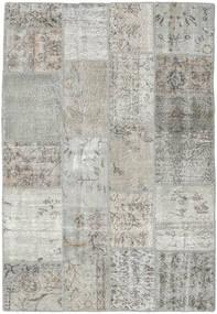 Patchwork Rug 139X203 Authentic  Modern Handknotted Light Grey/Beige (Wool, Turkey)