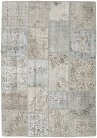 Patchwork Rug 137X197 Authentic  Modern Handknotted Light Grey (Wool, Turkey)
