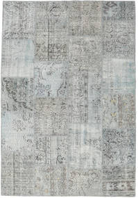 Patchwork Rug 159X231 Authentic  Modern Handknotted Light Grey (Wool, Turkey)