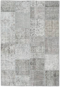 Patchwork Rug 159X230 Authentic  Modern Handknotted Light Grey (Wool, Turkey)