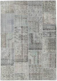 Patchwork Rug 157X230 Authentic  Modern Handknotted Light Grey/Dark Grey (Wool, Turkey)
