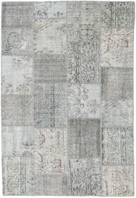 Patchwork Rug 155X231 Authentic  Modern Handknotted Light Grey (Wool, Turkey)
