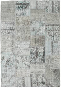 Patchwork Rug 158X231 Authentic  Modern Handknotted Light Grey (Wool, Turkey)