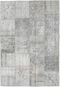 Patchwork Tapis 160X233 Moderne Fait Main Gris Clair (Laine, Turquie)