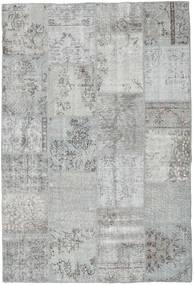 Patchwork Matto 159X234 Moderni Käsinsolmittu Vaaleanharmaa (Villa, Turkki)
