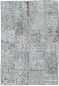 Patchwork Rug 160X232 Authentic  Modern Handknotted Light Grey/Light Blue (Wool, Turkey)