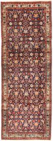 Hamadan Teppich  102X280 Echter Orientalischer Handgeknüpfter Läufer Braun/Dunkellila (Wolle, Persien/Iran)