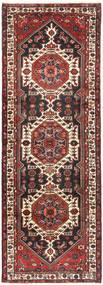 Saveh Rug 110X310 Authentic  Oriental Handknotted Hallway Runner  Brown/Black (Wool, Persia/Iran)