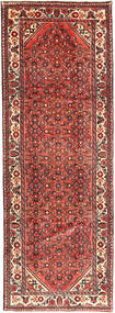 Hosseinabad Rug 107X300 Authentic  Oriental Handknotted Hallway Runner  Rust Red/Brown (Wool, Persia/Iran)