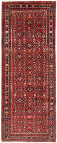 Hamadan Rug 110X290 Authentic  Oriental Handknotted Hallway Runner  Dark Red/Rust Red (Wool, Persia/Iran)