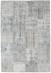 Patchwork Rug 160X232 Authentic  Modern Handknotted Light Grey (Wool, Turkey)