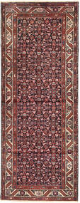 Hamadan Rug 110X295 Authentic  Oriental Handknotted Hallway Runner  Brown/Dark Red (Wool, Persia/Iran)