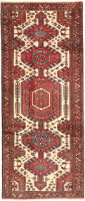 Saveh Rug 120X290 Authentic  Oriental Handknotted Hallway Runner  Dark Red/Brown (Wool, Persia/Iran)