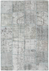 Patchwork Rug 160X231 Authentic  Modern Handknotted Light Grey (Wool, Turkey)