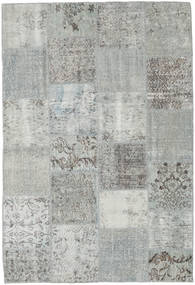 Patchwork Rug 157X230 Authentic  Modern Handknotted Light Grey (Wool, Turkey)