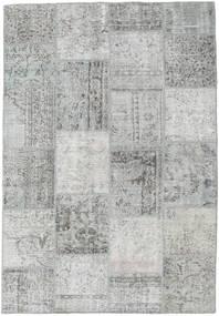 Patchwork Tapis 158X230 Moderne Fait Main Gris Clair (Laine, Turquie)