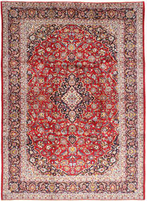 Keshan Teppe 245X336 Ekte Orientalsk Håndknyttet Mørk Rød/Lysbrun (Ull, Persia/Iran)