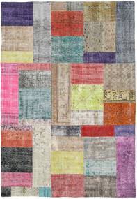 Patchwork Rug 158X229 Authentic  Modern Handknotted Light Grey/Light Purple (Wool, Turkey)