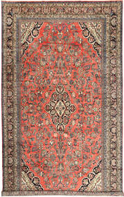 Hamadan Rug 313X532 Authentic  Oriental Handknotted Light Brown/Dark Grey Large (Wool, Persia/Iran)