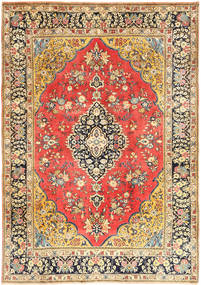 Ghom Sherkat Farsh Matta 190X272 Äkta Orientalisk Handknuten Mörkbeige/Ljusbrun (Ull, Persien/Iran)