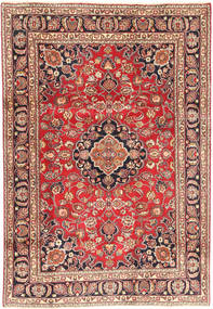 Mashad Rug 190X275 Authentic  Oriental Handknotted Light Brown/Brown (Wool, Persia/Iran)