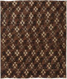 Colored Vintage Matto 191X222 Moderni Käsinsolmittu Tummanruskea/Ruskea (Villa, Turkki)
