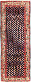 Sarouk Mir Rug 108X296 Authentic  Oriental Handknotted Hallway Runner  Dark Purple (Wool, Persia/Iran)