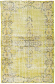 Colored Vintage Rug 153X238 Authentic  Modern Handknotted Yellow/Light Green (Wool, Turkey)