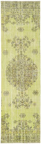 Colored Vintage Rug 81X301 Authentic  Modern Handknotted Hallway Runner  Light Green/Yellow (Wool, Turkey)