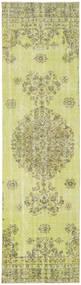 カラード ヴィンテージ 絨毯 81X301 モダン 手織り 廊下 カーペット ライトグリーン/黄色 (ウール, トルコ)