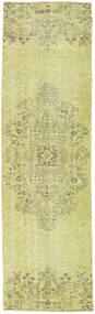Colored Vintage Rug 80X276 Authentic  Modern Handknotted Hallway Runner  Light Green/Yellow (Wool, Turkey)