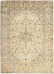 Keshan Rug 300X400 Authentic  Oriental Handknotted Beige/Light Grey Large (Wool, Persia/Iran)