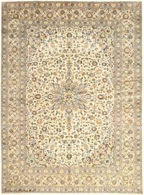 Keshan Rug 300X400 Authentic  Oriental Handknotted Beige/Light Grey Large (Wool, Persia/Iran)
