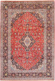 カシャン 絨毯 245X355 オリエンタル 手織り 薄茶色/紫 (ウール, ペルシャ/イラン)