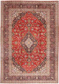 Keshan Rug 245X347 Authentic  Oriental Handknotted Dark Red/Rust Red (Wool, Persia/Iran)