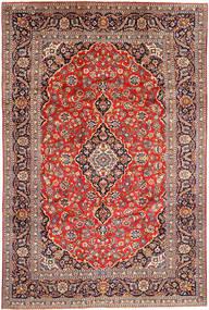 Keshan Matto 240X356 Itämainen Käsinsolmittu Vaaleanharmaa/Ruskea (Villa, Persia/Iran)