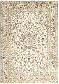 Keshan Rug 248X346 Authentic  Oriental Handknotted Light Grey/Beige/Dark Beige (Wool, Persia/Iran)