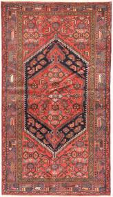 Zanjan Covor 126X225 Orientale Lucrat Manual Roșu-Închis/Maro (Lână, Persia/Iran)