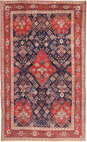 Hamadan Tappeto 203X340 Orientale Fatto A Mano Porpora Scuro/Marrone (Lana, Persia/Iran)