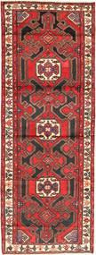 Hamadan Teppich 113X315 Echter Orientalischer Handgeknüpfter Läufer Braun/Dunkelbraun (Wolle, Persien/Iran)