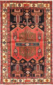 Hamadan Rug 133X215 Authentic  Oriental Handknotted Dark Brown/Rust Red (Wool, Persia/Iran)