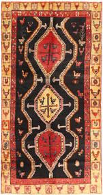 Kurdi Matto 138X270 Itämainen Käsinsolmittu Tummanruskea/Ruoste (Villa, Persia/Iran)