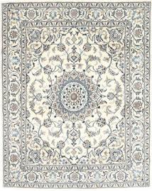 Nain Teppich  193X240 Echter Orientalischer Handgeknüpfter Beige/Dunkelgrau (Wolle, Persien/Iran)