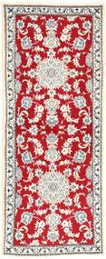 Nain Szőnyeg 77X192 Keleti Csomózású Bézs/Piros (Gyapjú, Perzsia/Irán)